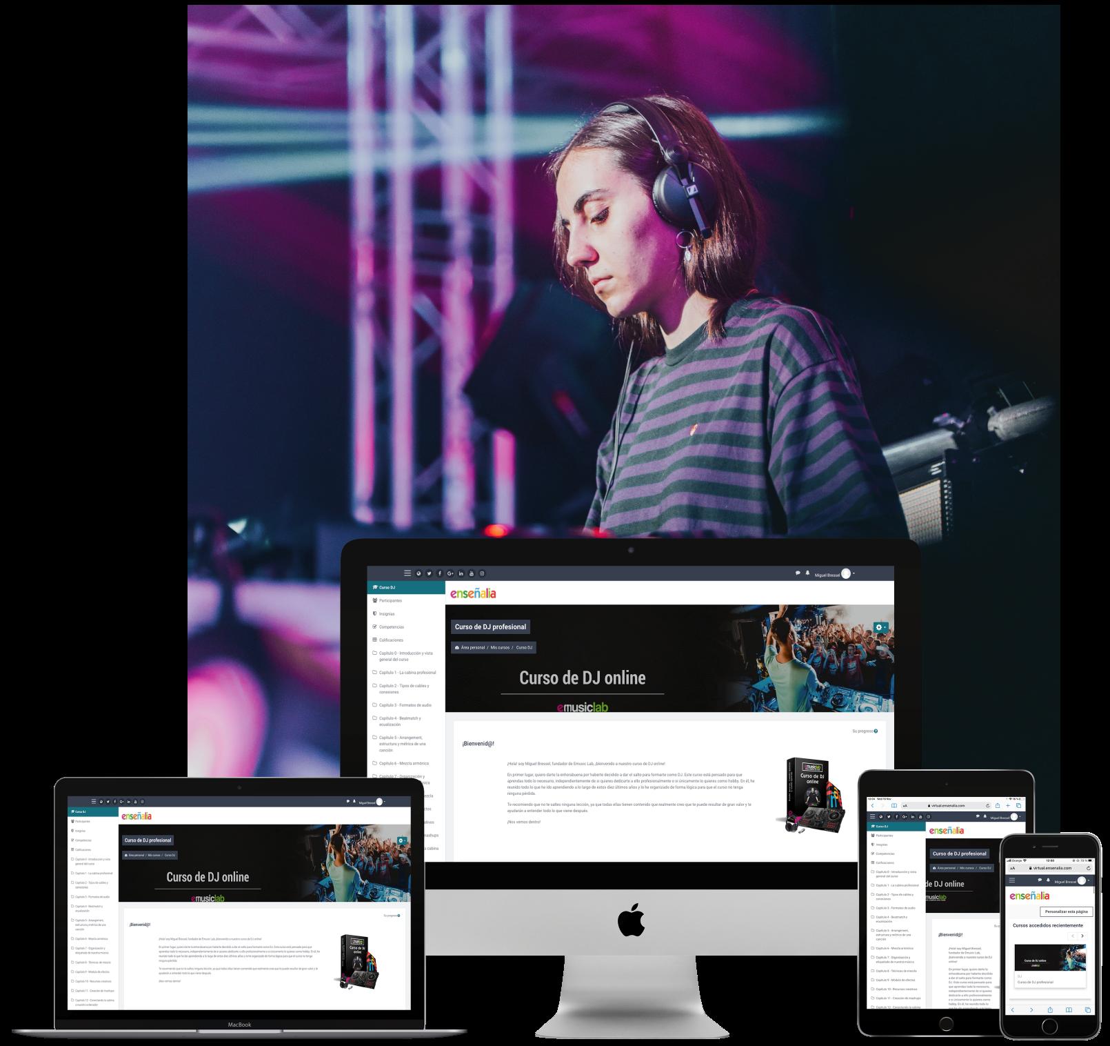 Julia Abad DJ Emusic Lab